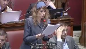 L'on. Tiziana Ciprini di M5S nell'intervento alla Camera