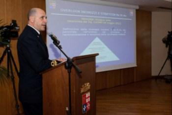 L'amm. P.L. Ricca, Capo del 1° Reparto di SMM