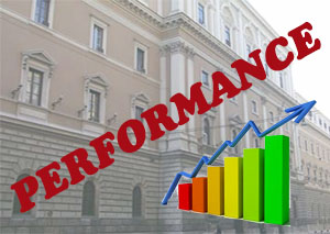 Banner performance rosso