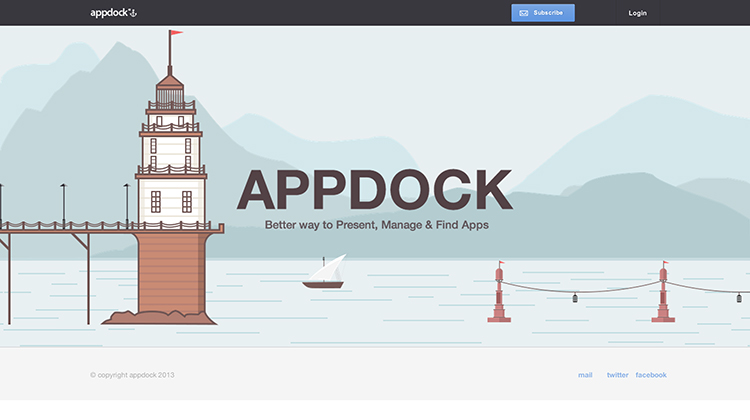 AppDock - a better way to present, manage and find apps - an example of flat ui design