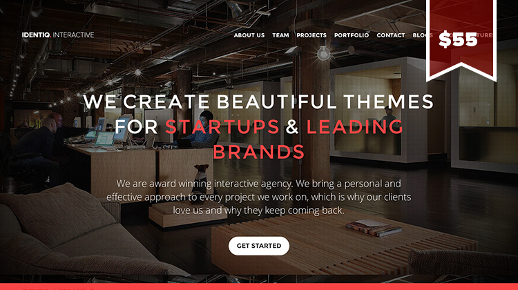 Identiq_One Page WordPress theme