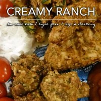 Creamy Ranch Dressing - Low Carb Keto and Sugar Free