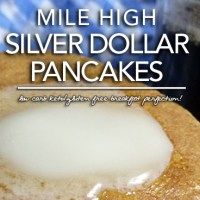 Mile High Silver Dollar Pancakes - Low Carb | Gluten Free Options