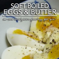 Perfect Soft Boiled Eggs with Butter and Truffle Salt - Low Carb Keto Perfection