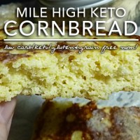 Mile High Keto Cornbread - Low Carb Keto & Gluten Free