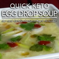 Egg Fast Recipe | Quick Keto Egg Drop Soup - Induction & Page 4 Friendly