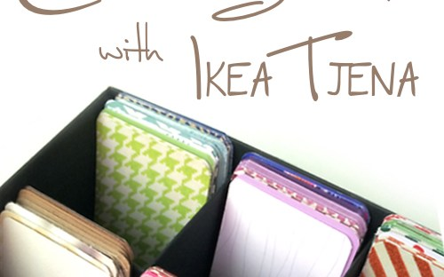 Craft Storage with Ikea Tjena
