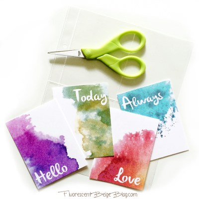 Watercolor Jounral Cards Example