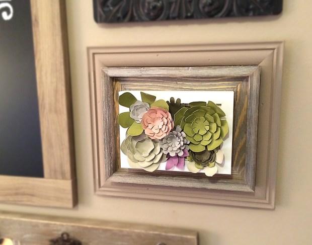 Paper Succulent Art Gallery Wall #papercraft