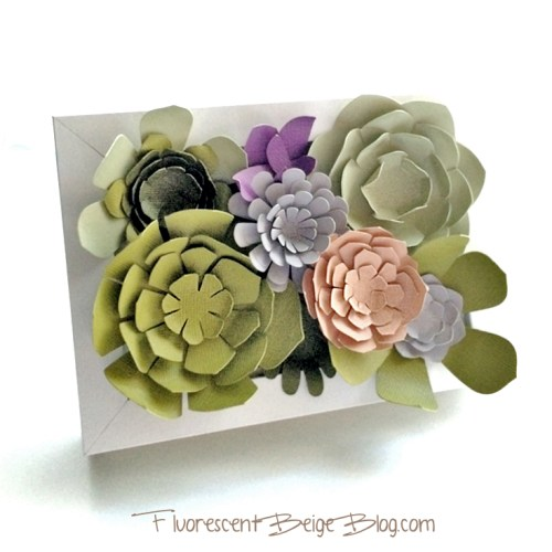 Paper Succulents in an Ikea Ribba Frame