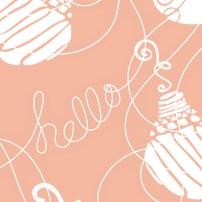 Hello Ornaments 6s Peach