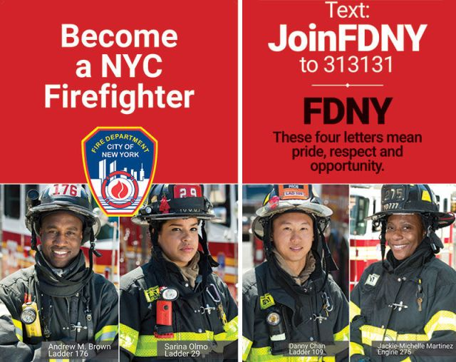 FDNY recruitment banner