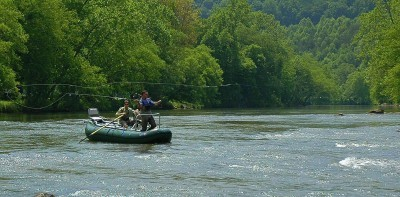 Tuckasegee Float trip, Fly Fishing the Smokies, Hottest Spring Fishing in the Smoky Mountains