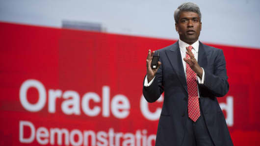 Oracle president Thomas Kurian taking  extended time off  Thomas Kurian  Oracle s president of product development  speats at  Oracle s 2013 OpenWorld conference in