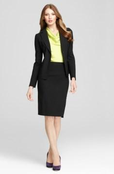 Black Pencil Skirt with Blazer