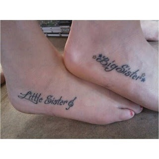 50 meaningful and lovely sister tattoo design ideas for Big sister and little sister tattoos