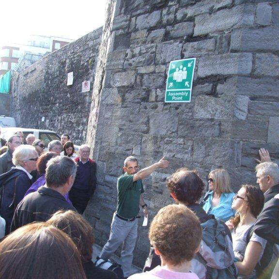 Dr Stephen Harrison leading a tour in 2011