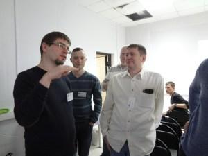 Обсуждение в перерыве. Аркадий Перла, Вадим Волоков