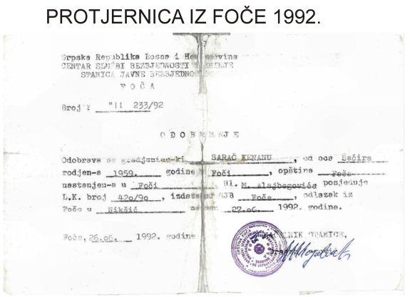 Foča 1992. - protjernica iz Foče