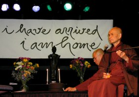 Primeiras palavras de Thich Nhat Hahn após o derrame