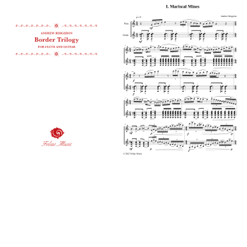 Folias Sheet Music Border Trilogy