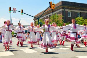 Folkmoot 2016 - Parade - Downtown Franklin @ Main Street, Franklin, North Carolina | Franklin | North Carolina | United States