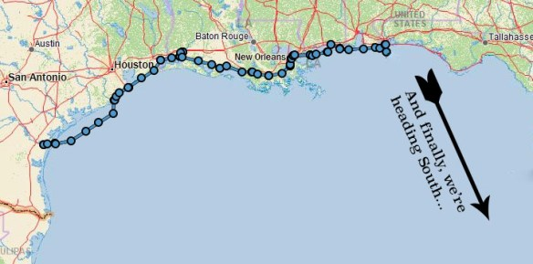 track up to pensacola