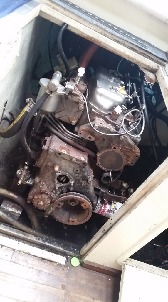 old motor stripped