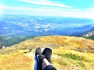 Nike Schuhe auf dem Berg, Ausblick, Tschechien