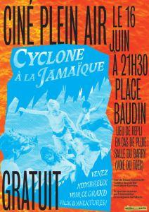 Affiche ciné plein air 2017 Place Baudin