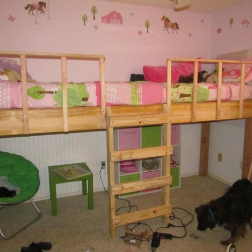 Adorable We Girls New Loft Bed Joys Morhood Fontenot Style Girls Loft Bed Vanity Girls Loft Bed A Desk Slide Box 3