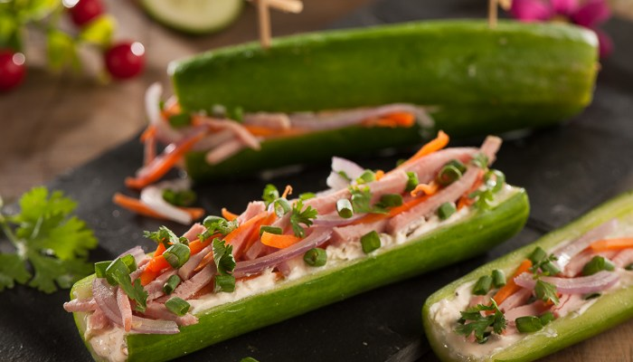 Ham & Cheese Cucumber Subs