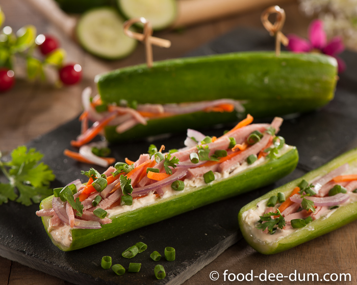 Ham Cheese Cucumber Subs Breadless Sandwich Challenge