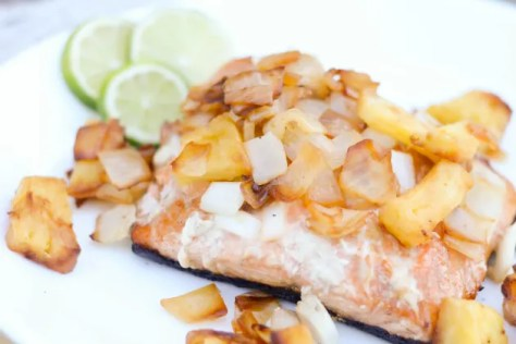 Grilled Salmon with Pineapple Salsa Pic