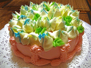 Cake using Russian Piping Tips