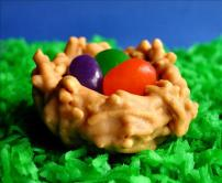 Easter Nests With Jelly Bean Eggs. Photo by GaylaJ