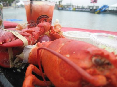 Strawberry lemonade, lobster, and a lagoon.
