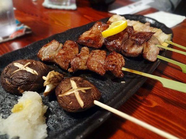 grilled meats on sticks - yokohama yakitori