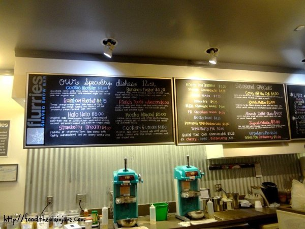 flurries-menu