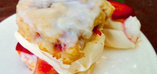 strawberry-shortcake-scones-coconut-cream-glaze