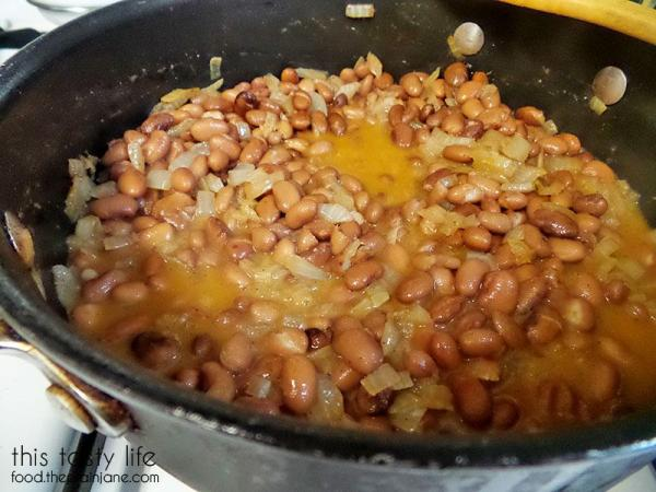 making-refried-beans