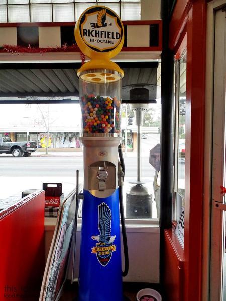 Gas Pump Bubblegum Dispenser - Suzy Q's Diner - Escondido, CA