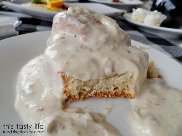 Biscuit and Gravy Closeup - Suzy Q's Diner - Escondido, CA