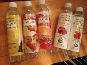 The fruit juice/sweetened variety and the organic-only sparkling option