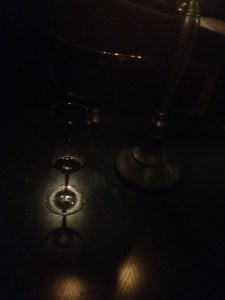Juan Gil wine in candlelight at Maple and Ash