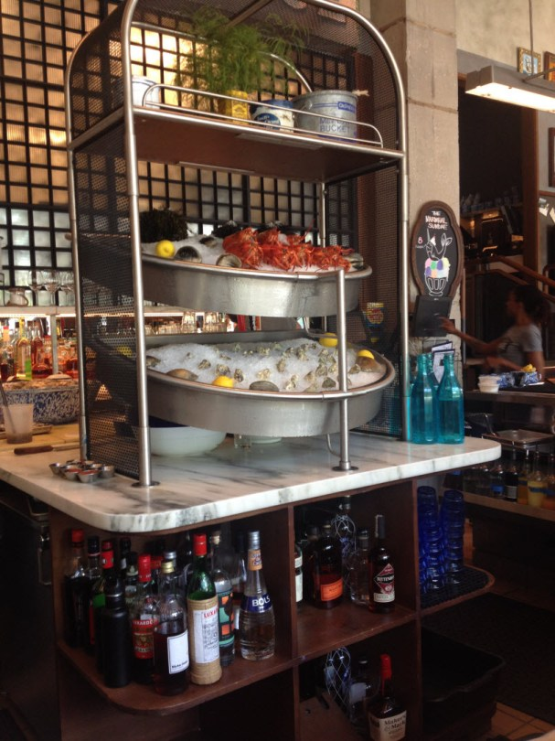 Cold Storage bar has a seafood bar