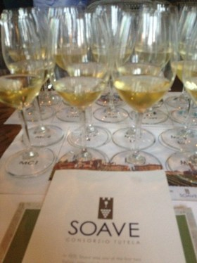 Blind tasting of beautiful Soave wines