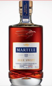 Martell Blue Swift Cognac finished in bourbon barrels - Photo used with permission of Martell