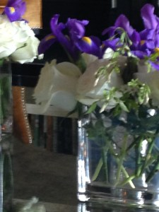 Flowers with Waldorf-Astoria's signature royal purple