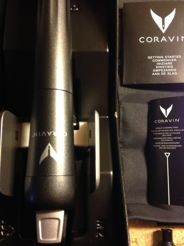 Opening the Coravin system